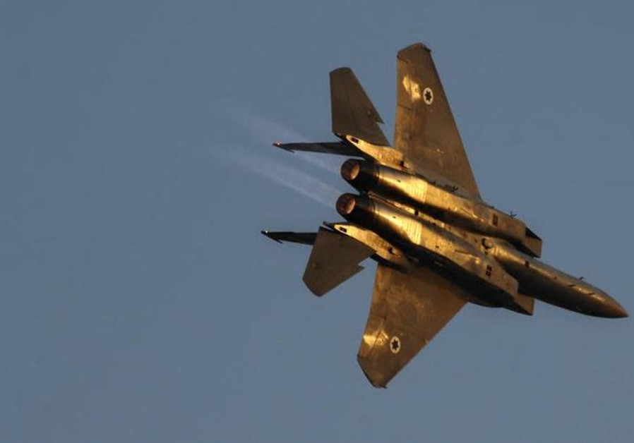 An Israeli air force F15 fighter jet.
