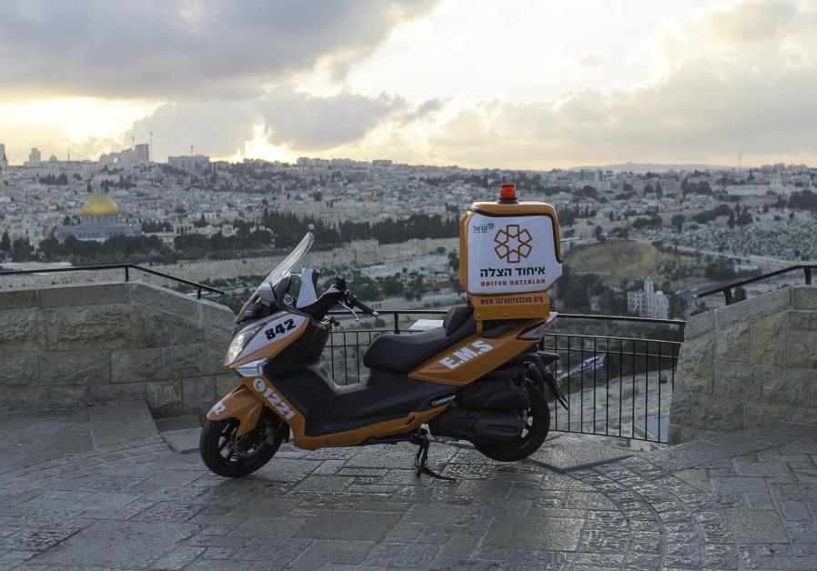 A new United Hatzalah ambucycle in Jerusalem