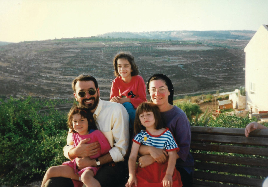The Samson family just after making aliya in 1996