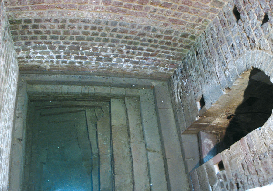 THE POOL of a medieval mikve in Speyer, Germany, dating back to 1128