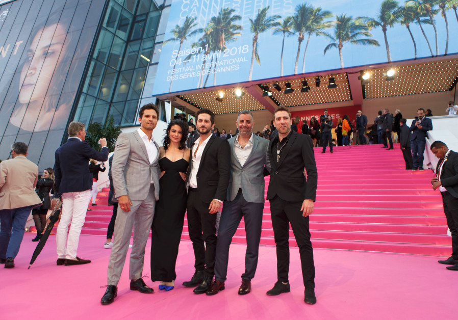 Israeli actors Dan Mor, Ninet Tayeb, Tomer Kapon, Omri Givon and Moshe Ashkenazi at Cannes