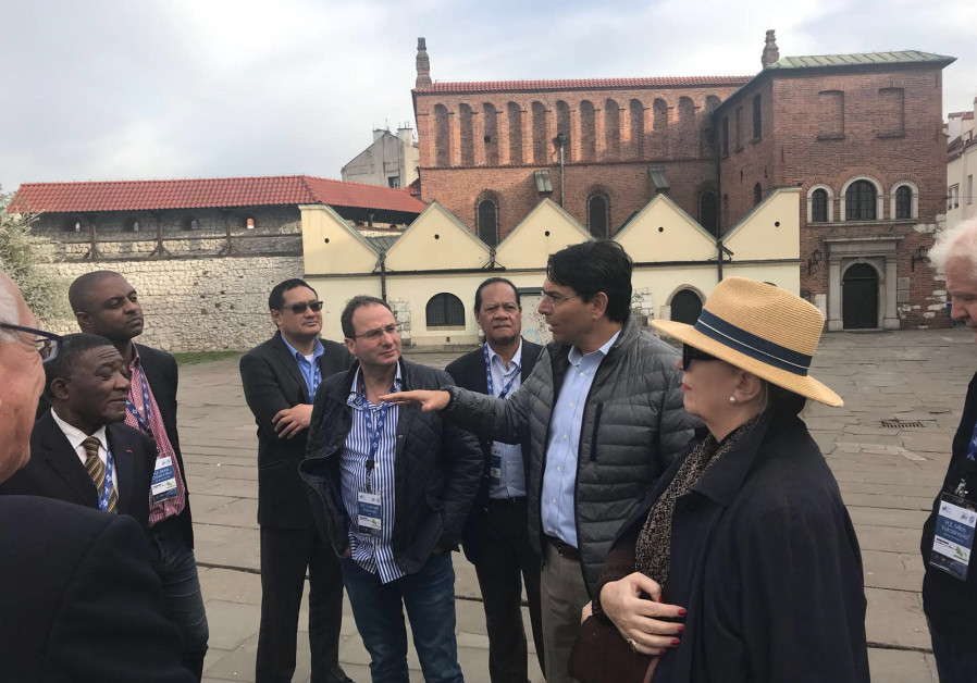Danon leads group of U.N. ambassadors to Poland on Holocaust Remembrance Day