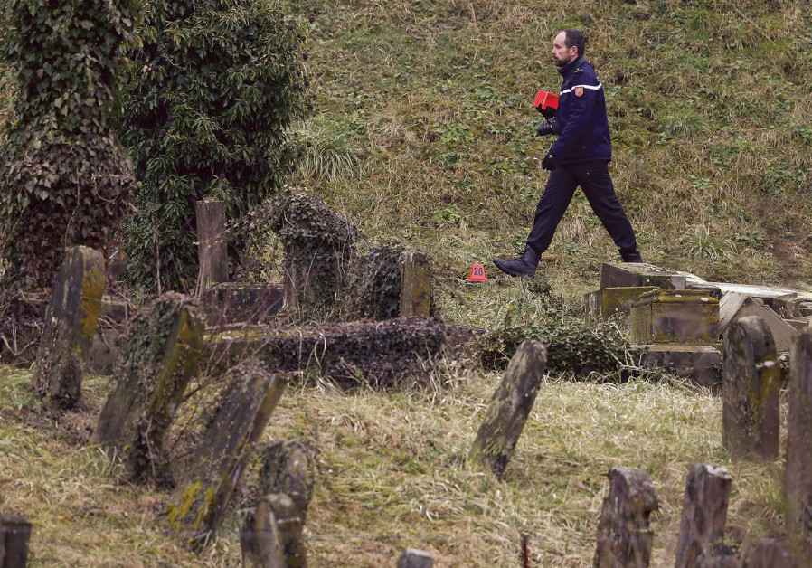 Jewish cemetery vandalized near Paris