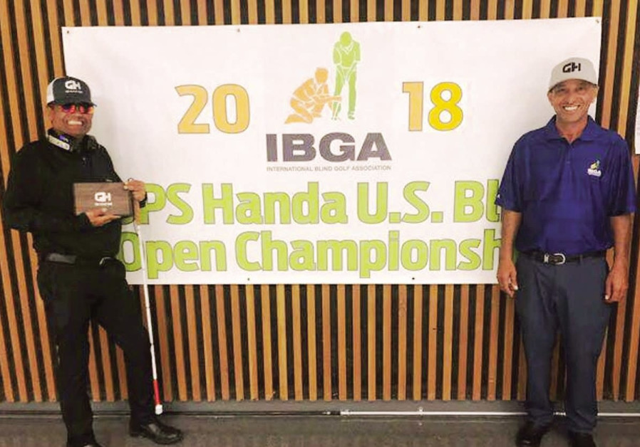 Israeli blind golfer continues to rack up titles