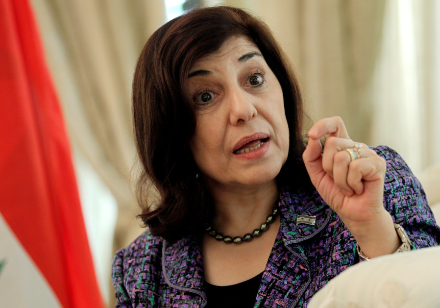Bouthaina Shaaban, envoy of Syrian President Bashar al-Assad, speaks during an interview in Beijing