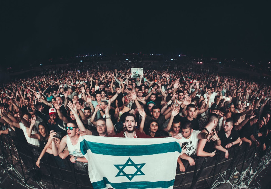 Israelis at the Hardwell 2018 concert in Rishon Lezion