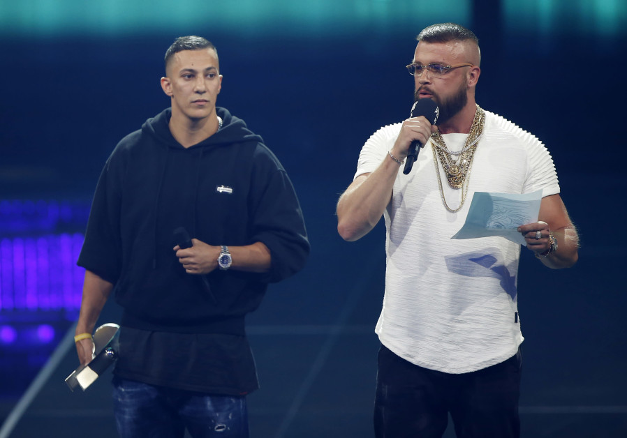 German rappers Kollegah and Farid Bang at the Echo Awards
