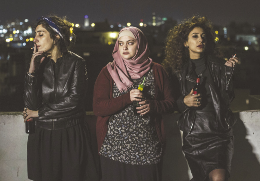 'IN BETWEEN': Sana Jammelieh (as Salma), Shaden Kanboura (as Noor) and Mouna Hawa (as Leila)