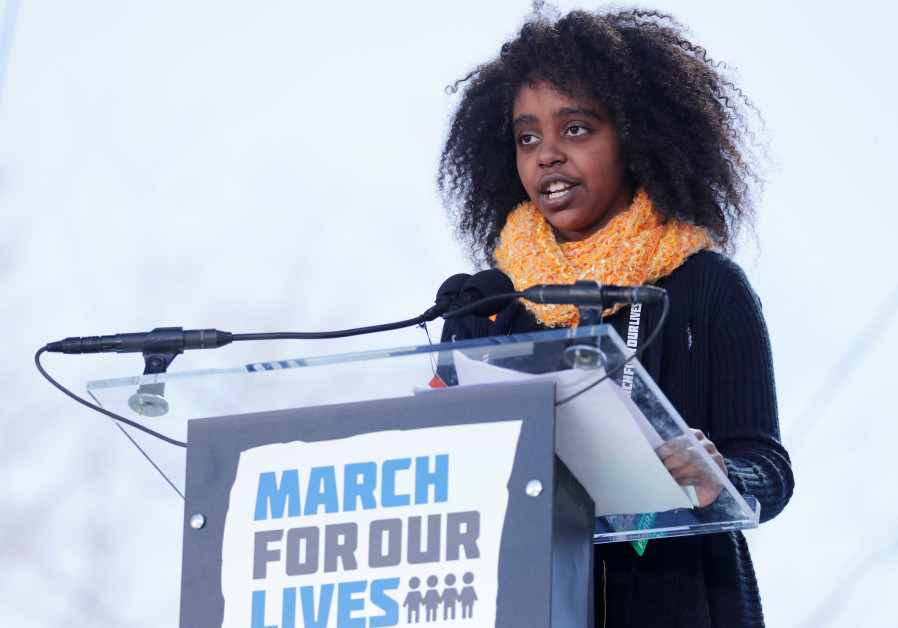 Gun control activist, 11, says she faces taunts for being black and Jewish