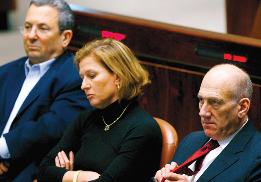 Ehud Olmert, Tzipi Livni and Ehud Barak