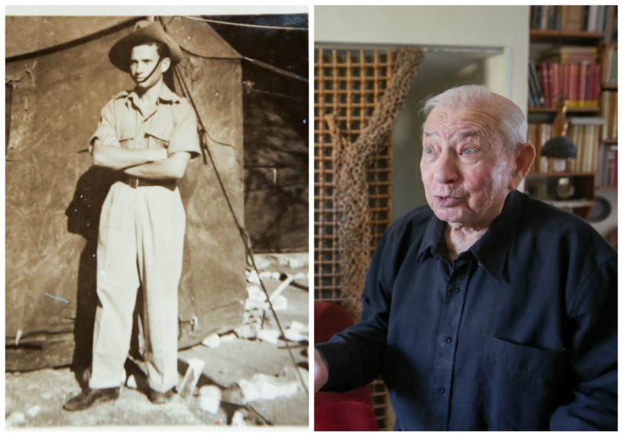 Chanan Rapaport in his Haganah days (left) and today (right).
