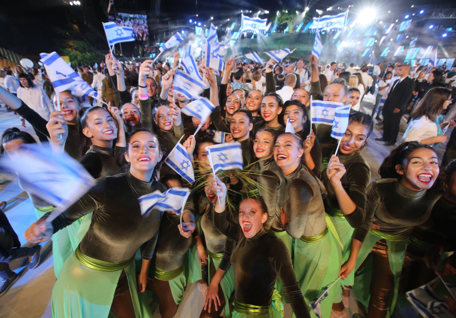 Performers happy to celebrate Israel's 70th year of Independence, credit: MARC SELLEM.