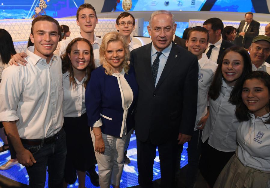PM Benjamin Netanyahu and wife Sara Netanyahu at the International Bible Quiz