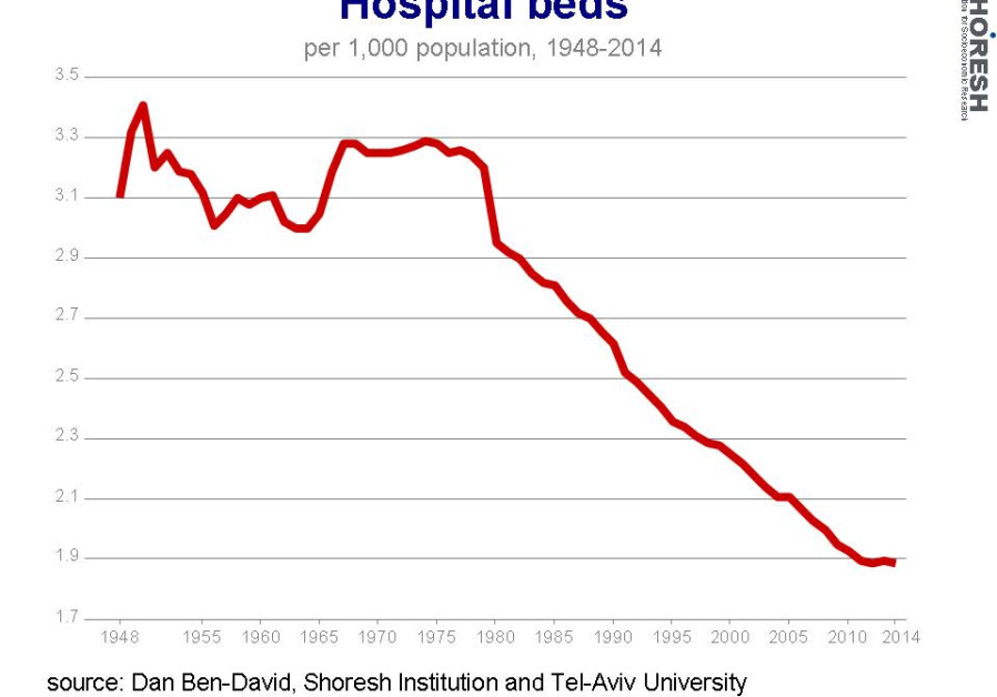 Hospital beds graph. (Credit: Dan Ben-David)
