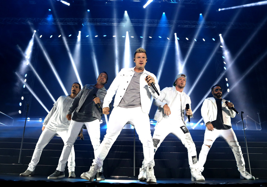 The Backstreet Boys in concert, Rishon LeZion, April 22, 2018.