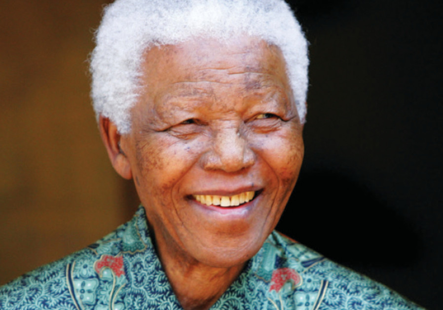 Nelson Mandela outside his home in 2005