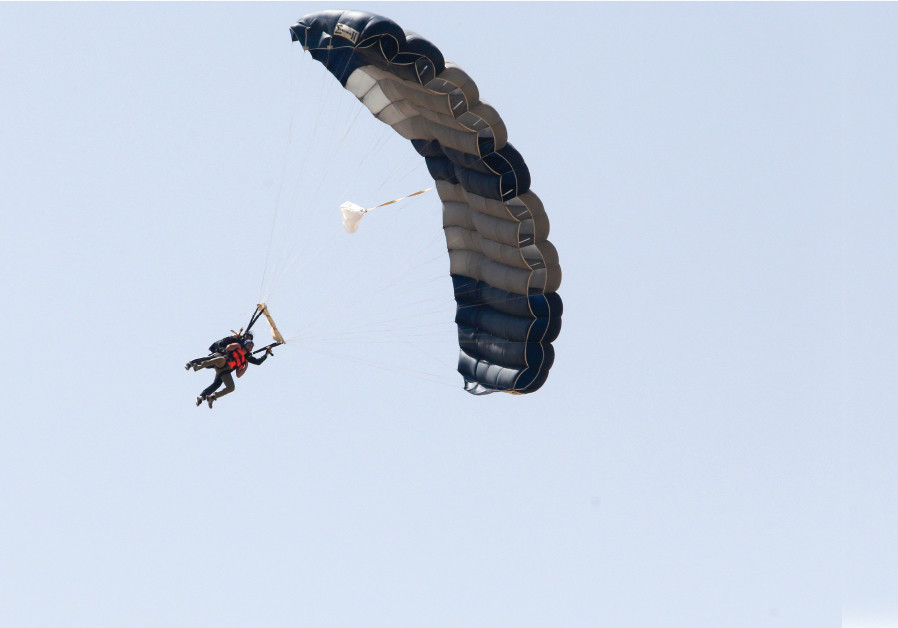 Dozens of skydivers raise money for ALYN Hospital in an unconventional way