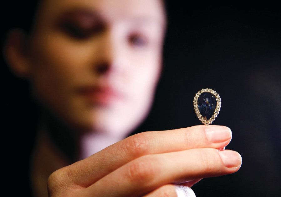A BLUE diamond for sale at Sotheby's in London, April 2018