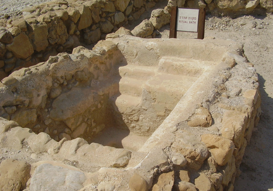 AN ANCIENT mikve excavated at Qumran