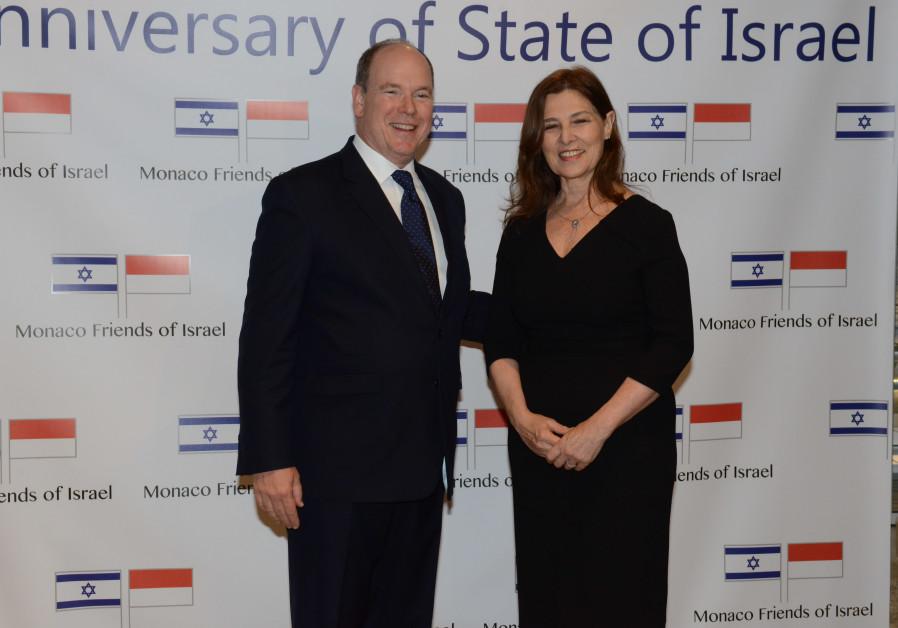 Prince Albert of Monaco celebrates Israel's 70th