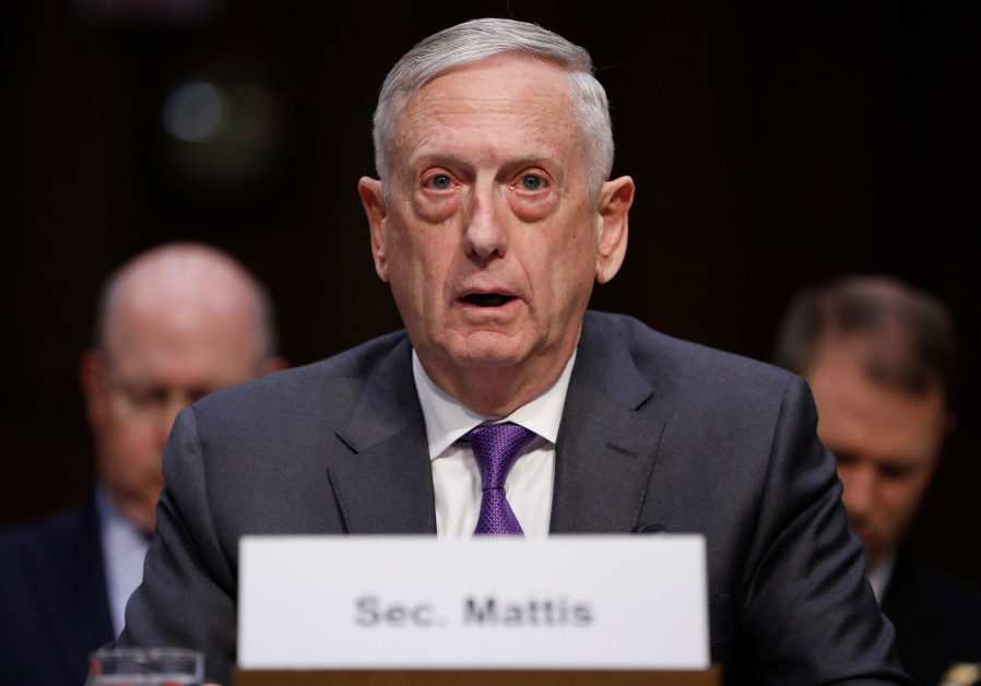 Mattis, receiving Liberman, warns of 'likely' conflict between Israel and Iran
