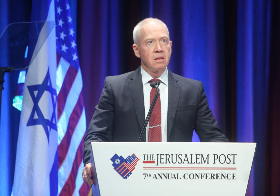 Minister of Construction Yoav Gallant at the 7th Annual JPost Conference in NY