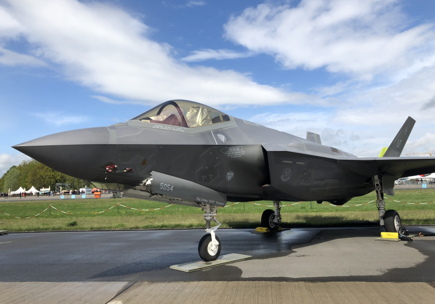 The F-35 stealth fighter jet on the tarmac at Berlin Air Show