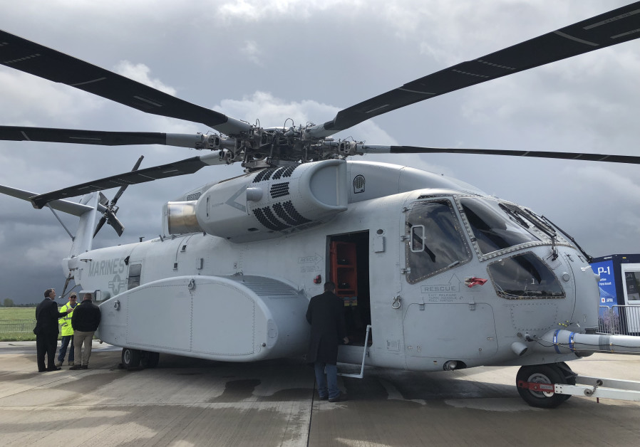 Lockheed Martin Sikorsky's Ch-53K on the tarmac at Berlin Air Show