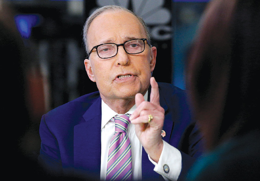 Economic analyst Larry Kudlow appears on CNBC at the New York Stock Exchange on March 7, 2018
