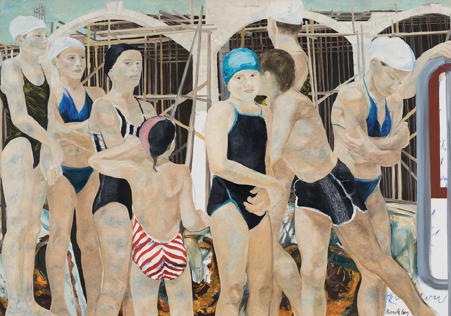 Pamela Levy's 'The Sea Frieze' (1987) Oil on canvas, 140x200; Collection Tel Aviv Museum of Art
