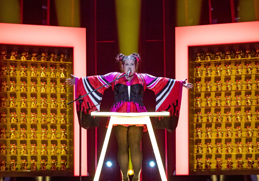 Netta Barzilai rehearses for the Eurovision competition in Lisbon, Portugal