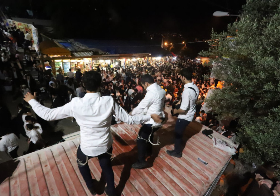 Thousands celebrate Lag BaOmer in the northern Israeli city of Meron