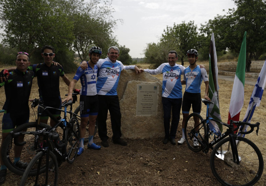 A hiking trail named after the late Italian cyclist and Righteous Among the Nations Gino Bartali