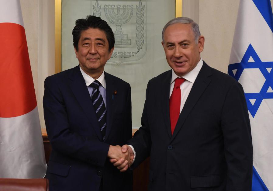 Prime Minister Benjamin Netanyahu meets Japanese Prime Minister Shinzo Abe, May 2, 2018