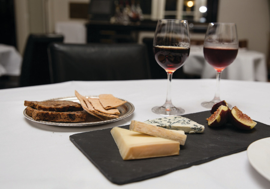 WHILE RED wine and cheese make a lovely combination (enjoyed here at Tel Aviv's Montefiore Hotel), i