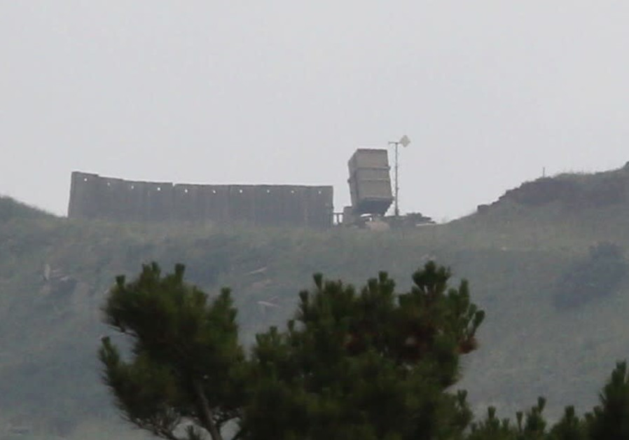 Iron dome in the Golan as Israel prepares for threats from Iran, May 9, 2018