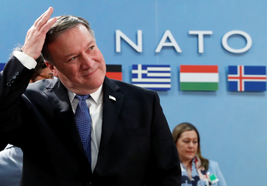US Secretary of State Mike Pompeo attends a NATO foreign ministers meeting at the Alliance's headq