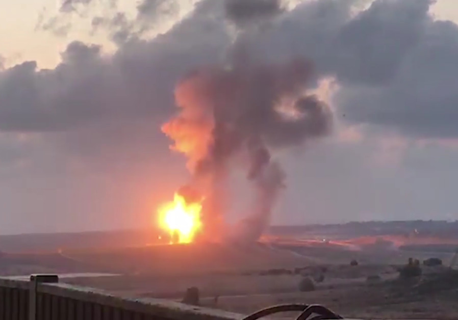Destruction of a Hamas terror tunnel near the Erez Crossing by the IDF, May 5, 2018