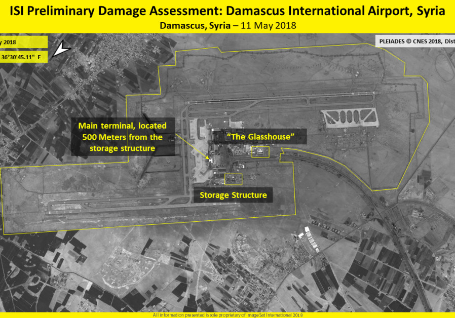 Preliminary Damage Assessment, Damascus International Airport, Syria, 11 May 2018