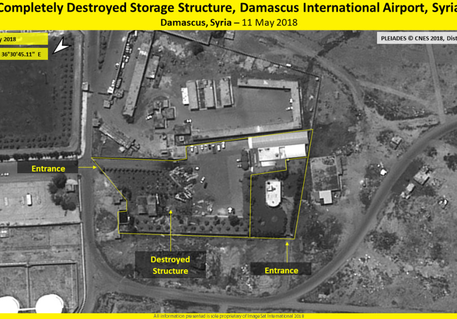 Destroyed storage structure, Damascus International Airport, Syria, 11 May 2018