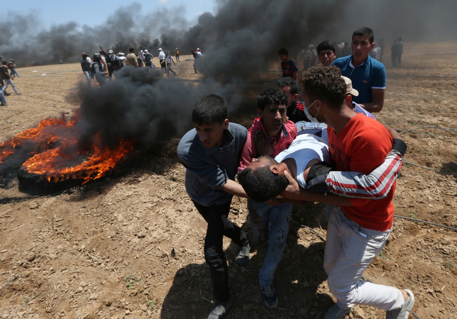 50 Hamas members reportedly killed during Monday's Gaza protests