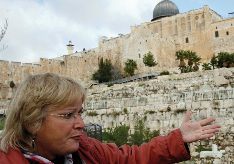 Archaeologist Eilat Mazar of the Hebrew University in Jerusalem discusses findings near the archaeol