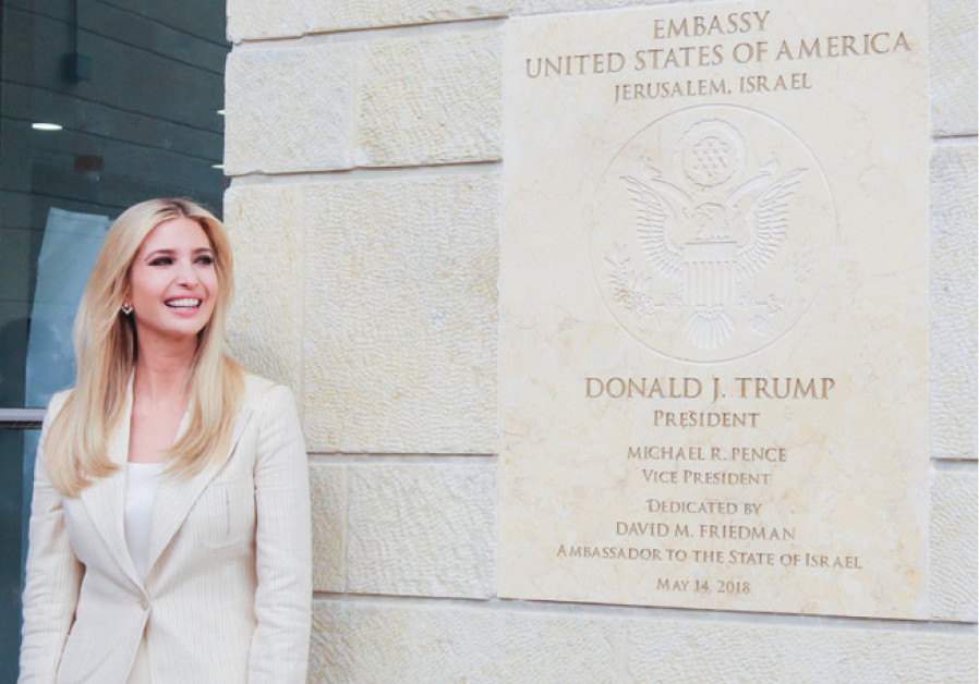 Ivanka Trump is all smiles at the official opening of the US Embassy in Jerusalem, May 14, 2018
