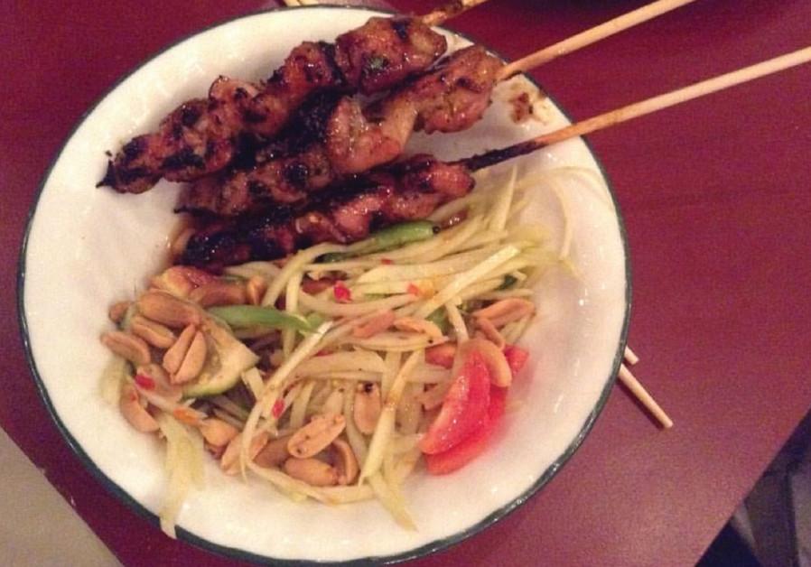 A dish at Thai on Har Sinai  restaurant