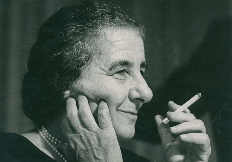 Shabtai ShavitGOLDA MEIR takes a cigarette break, 1973