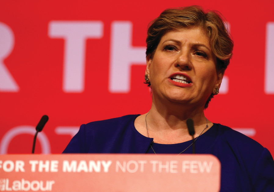 Britain's shadow foreign secretary Emily Thornberry speaks at the Labour Party Conference in Brighto