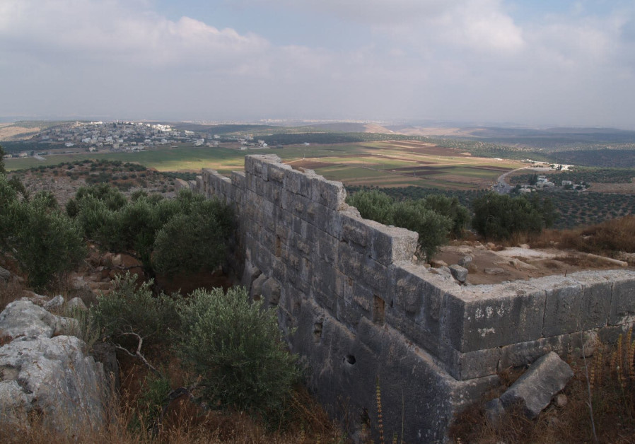 The archaeological site near Peduel, a settlement in the West Bank, May 27th, 2018.