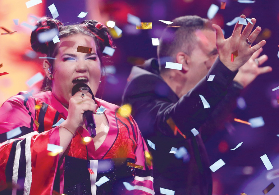 Netta Barzilai performs after winning the Grand Final of Eurovision Song Contest 2018 at the Altice