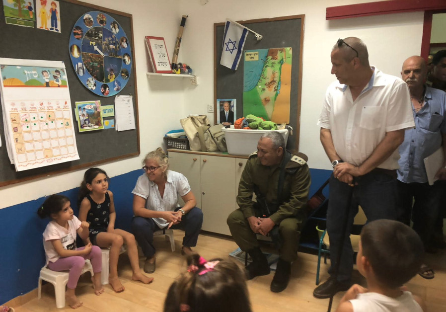 IDF Chief of Staff Lt.- Gen. Gadi Eisenkot visited kindergarten in southern Israel
