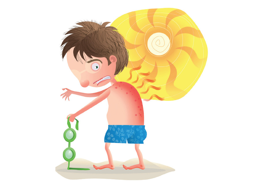 A boy at the beach in the summer (Illustrative)